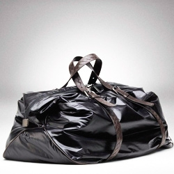 Bottega Venetta's  Spinnaker Duffel bag. Inspired by sail material, is durable and versatile.