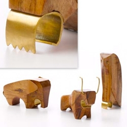 Wild Kingdom: Menagerie Bottle Openers ~ adorable!!! Woody animals with etched stainless steel openers ~