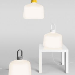 Swedish design firm TAF has designed a clean lamp called Bottle. The lamp is going to be produced by lamp producer Zero.