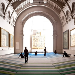 Assembly of Bouroullec Brother's Textile Field at the V&A. Film by Ben Dunbar-Brunton.