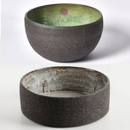 Julia Smith Ceramics is based in the Scottish Highlands. Her ceramics often have surprising natural scenes and details hidden inside.