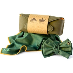 What a beautifully packaged bowtie/handkerchief set from Activist Eyewear and Alfred Julius. 50 piece limited edition.