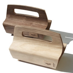 Sleek and beautifully crafted wooden clutches by Supplii of Austin, Texas...