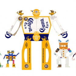 Amazing Boxbots created from un-used packaging boxes! By designer JK Keller.
