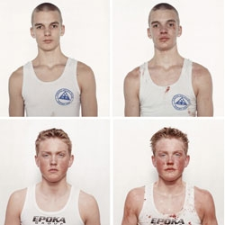 An interesting photo series by Nicolai Howalt depicting young boxers before and after a fight.
