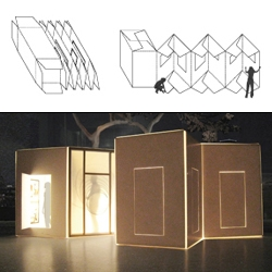 """Inspired by Marcel Duchamp's work, 'Box in a Suitcase (o.1938)', the proposed """"Box in a Crate"""" project acts as a giant, portable, pop-up art gallery."""