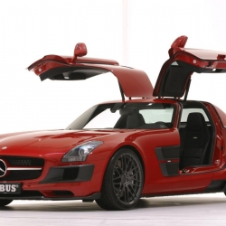 All-star German tuner BRABUS has just released the WIDESTAR Wide Version of the Mercedes-Benz SLS AMG at the 2010 Essen Motor Show.