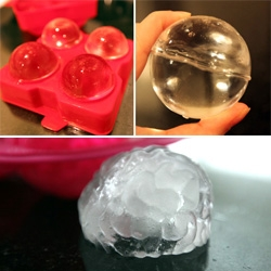Bourbon Balls and Ice Brains! The Ice Ball trend continues with Maker's Mark ice ball molds and Fred Brain Freezes