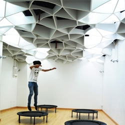 Thailand based NPDA Studio recently completed Brain Fit, a learning studio  specifically designed to enhance brain function, imagination and co-ordination for small children. Incredible ceilings!