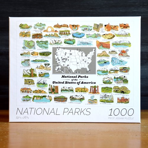 1000 Piece National Parks Puzzle by Brainstorm. Features all 59 current U.S. National Parks. Sales help support the National Park Foundation.