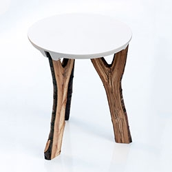 Christoph Schindler's Branch Stool with forked legs