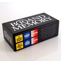 Brand Memory Game is a game about the knowledge of brands. The challenge is to find matching pairs of a brand, based solely on their characteristic colours and style elements and a short description of the brand.