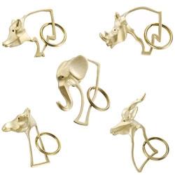 Brass Animal Keychains at Tortoise
