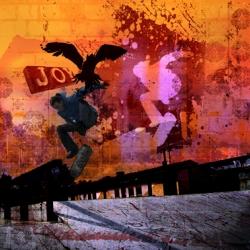 lovely skate poster from Lucie Blaževská