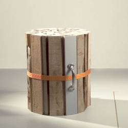 The Firewood Stool by Oliver Conrad is a unique piece and looks really adorable.