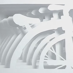Javan Ivey has created a brilliant (new?) type of stop-motion animation using paper cutouts.