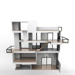 NYC-based Brinca Dada make stunning minimal dollhouses. This is Bennett House.