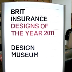 Core 77 covers the Brit Insurance Designs of the Year 2011 at the London Design Museum.