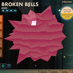 "Super fun site for Broken Bells.  Each little planet has its own URL that's a mix of the letters in ""broken bells"" and plays a song. Reminds me of Super Mario Galaxy! And check out the lyrics view.. like designer karaoke!"