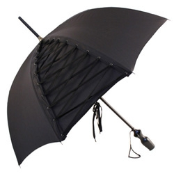 The corset umbrella by Guy de Jean for Jean-Paul Gaultier is only one of the designs of this designer for a rainy day.