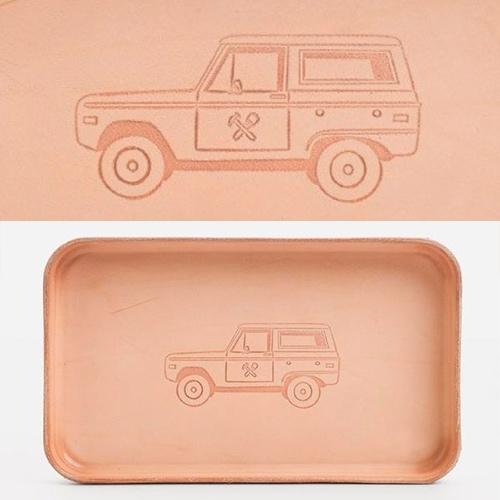 For the vintage Bronco lovers - Billy Kirk No. 309, Leather Tray, Bronco