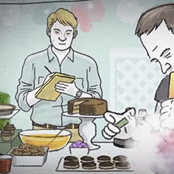Arthur Jones animates this fun little piece about a pot reporter, Michael Montgomery, and his adventures when edibles take him down an unexpected path...