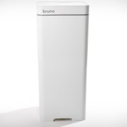 Bruno's integrated vacuum feature delivers floor sweepings directly into the trash can. Simply sweep and Bruno takes care of the rest. Currently on Kickstarter.