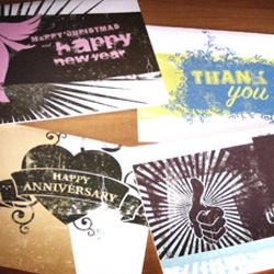 Unique yet trendy birthday, anniversary, congratulations, thinking of you, and Christmas cards made by Blacksuits Creative for Chi Alpha Campus Ministries.