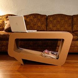Speech Bubble cardboard coffee table by Leo Kempf  [via Elmanco]