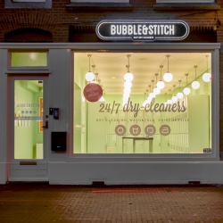 New 24/7 open smart laundry space in Amsterdam using an app and a high tech locker system to allow you to drop off an pick up your clothes at any time of the day or night.
