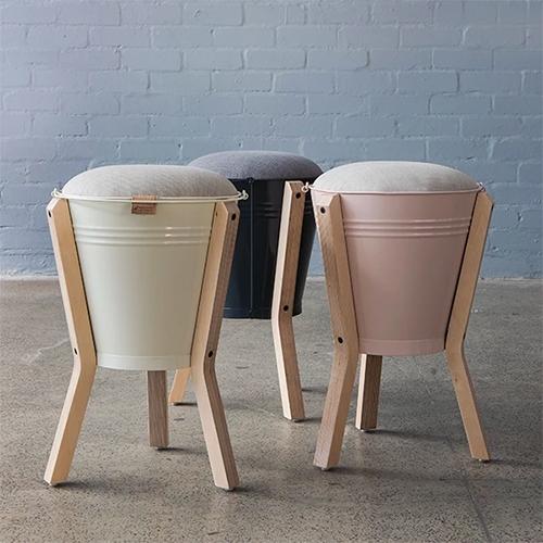 Bucket Stool by PEDERSEN + LENNARD