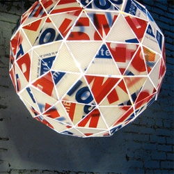 Andrew Thomson's Buckminster Fuller tribute light- the geodesic campaign pendant!