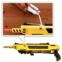 Bug-A-Salt gun ~ fill it with table salt, and obliterate flies, mosquitos, etc effectively up to 3ft away?