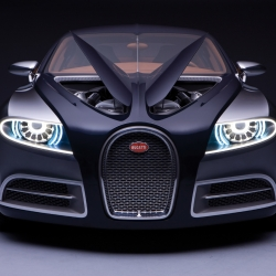 Bugatti 16C Concept just made its first debut in the US, in Los Angeles. As an ode to the Type 57 C from the late 1930s, this reinvigorated supercar is absolutely exquisite inside and out. Available in 2012 for roughly $1.6 million.