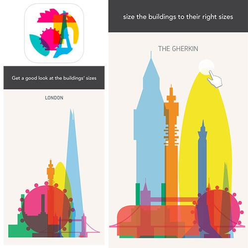 "Yoni Alter's ""Shapes of Cities"" prints series is now a fun iOS app that tests your visual memory while learning about cities."