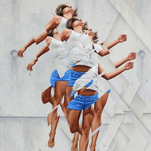 "James Bullough ""Breaking Point"" Show at Thinkspace Gallery. ""Bullough begins with figurative imagery, disjointing and levitating its fragmented parts impressionistically to build dynamic surfaces that read with startling affective resonance."""