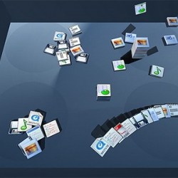 Bump Top is a 3 dimensional desktop,  a cool way to interact with and organize files.