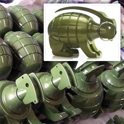 A look into the making of (and larger than human sizes) Grenade Bunny and other goodies by Lucky Bunny