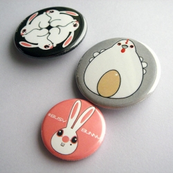 "HaRe a Bunny Easter with ""Busy Bunny"" button pins and cards!"