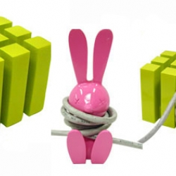 These cube and bunny cord organizers are two unique ways to keep your cables and cords looking neat and tidy.
