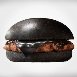 "Burger King Japan created the ""Kuro"" burger, also known as the black burger."