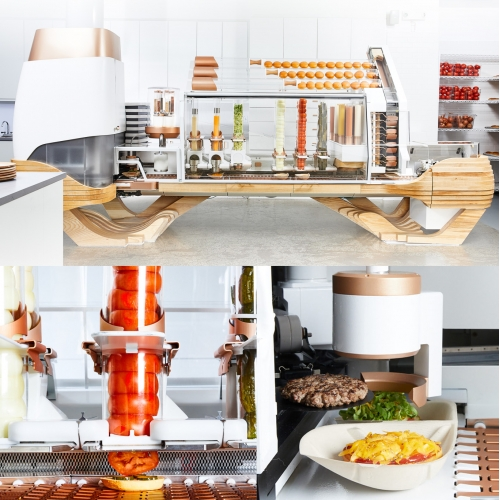 Creator (a culinary robotic company) in San Francisco has a robot making burgers to order!