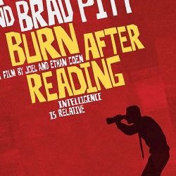 "I really like this Saul Bass inspired poster for ""Burn After Reading"" designed by Mojo, LLC."