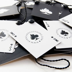 Lovely packaging for Burn Card Clothing.