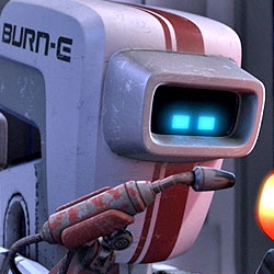 """Watch """"Burn•E, new Pixar short film, extra including on the upcoming DVD/Blu-ray release of """"Wall•E""""."""