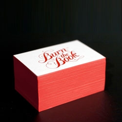 Creative agency Burn the Book have gorgeous letterpressed business cards!