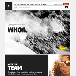 Burton Snowboards have a new website. Nice grid and new editorial look.
