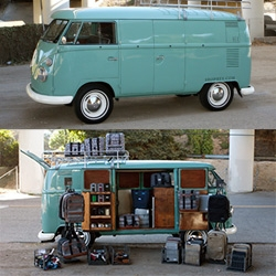 The HEX Bus Traveling Pop Up Shop housed in a 1963 VW Splitty