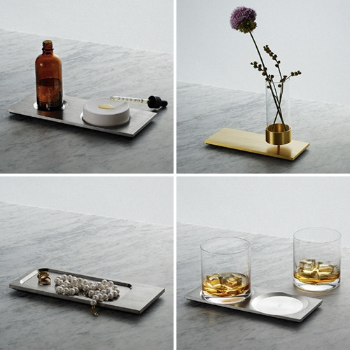 Buster & Punch Machined Collection = CANDLEABRA, VASE, WHISKY, DIFFUSER & TRAY. Machined from solid brushed STEEL or BRASS. They make quite the impact when placed all in a row... or alone!
