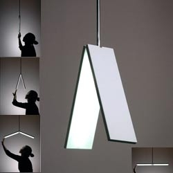 This light came from the idea of folding a piece of paper. 2004 VINTA :  Kohei Okamoto + Tomohiro Yamaguchi + Toshitaka Nakamura